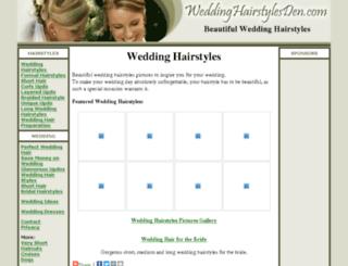weddinghairstylesden.com screenshot