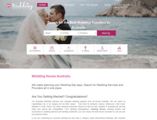 weddinghouse.com.au screenshot