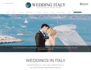 weddingitaly.com screenshot