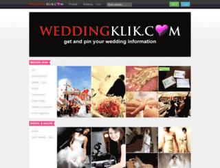 weddingklik.com screenshot