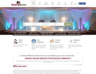 weddingmuslim.com screenshot