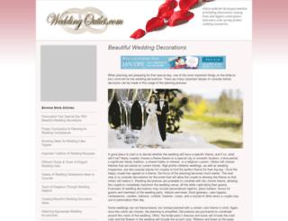 weddingoutlet.com screenshot