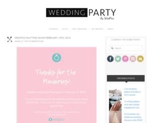 weddingpartyapp.com screenshot