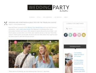 weddingpartyblog.com screenshot