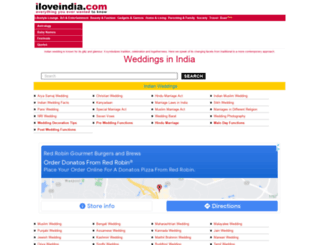 weddings.iloveindia.com screenshot