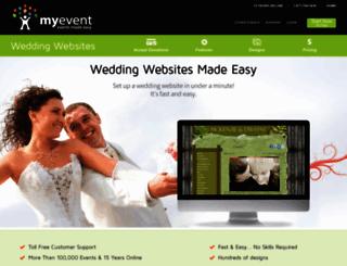 weddings.myevent.com screenshot