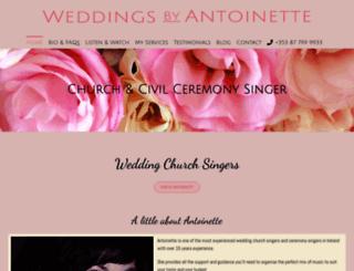 weddingsbyantoinette.ie screenshot