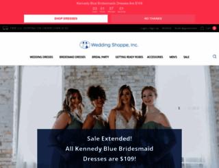 weddingshoppeinc.com screenshot