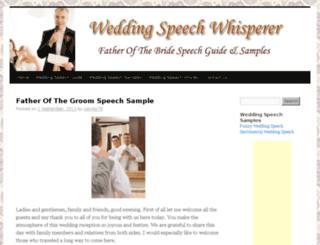 weddingspeechwhisperer.com screenshot
