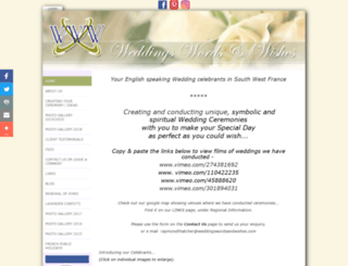weddingswordsandwishes.com screenshot