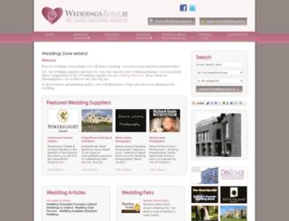 weddingszone.ie screenshot