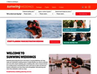 weddingvacations.com screenshot