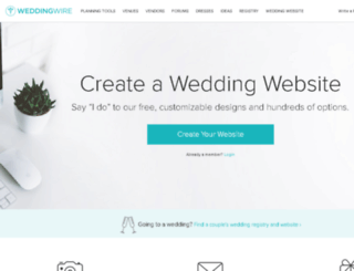 weddingwebsites.weddingwire.com screenshot