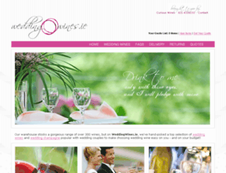 weddingwines.ie screenshot