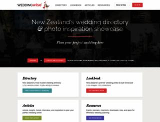 weddingwise.co.nz screenshot