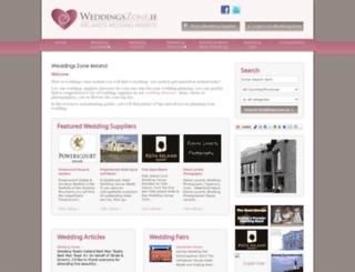 weddingzone.ie screenshot