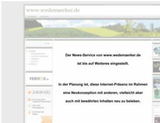 wedemaerker.de screenshot