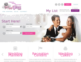 wedexperts.com screenshot