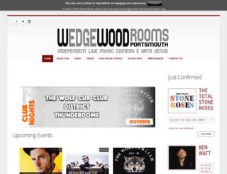 wedgewood-rooms.co.uk screenshot