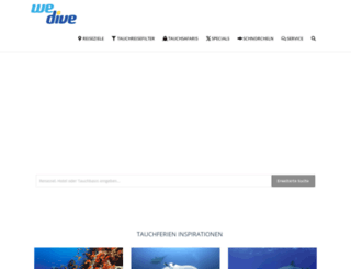 wedive.ch screenshot