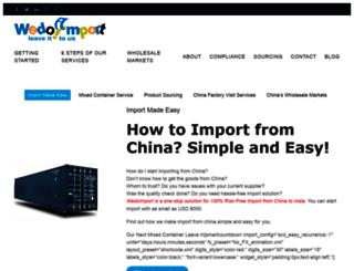 wedoimport.com screenshot