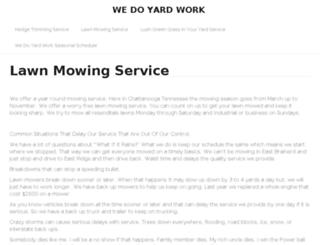 wedoyardwork.com screenshot