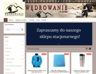 wedrowanie.com screenshot