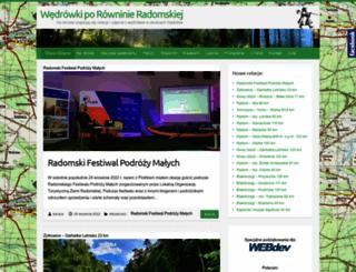 wedrowki.radom.pl screenshot