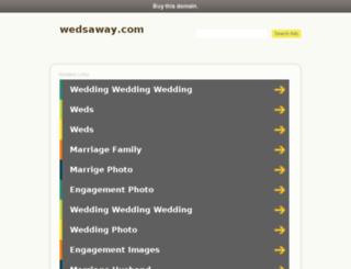 wedsaway.com screenshot