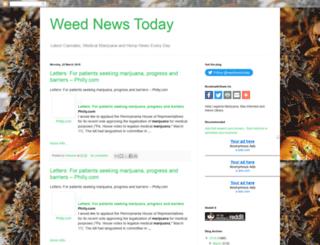 weednewstoday.blogspot.com screenshot