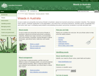 weeds.gov.au screenshot