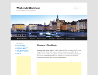 weekendistockholm.se screenshot
