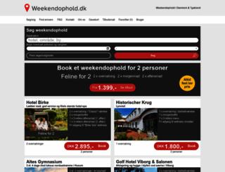 weekendophold.dk screenshot