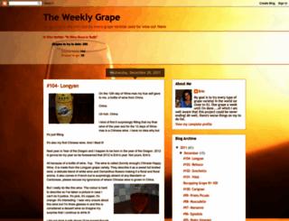 weekly-grape.blogspot.com screenshot