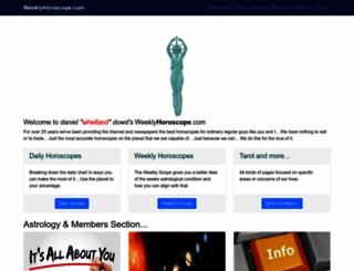 weeklyhoroscope.com screenshot