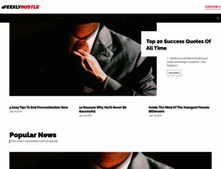 weeklyhustle.com screenshot