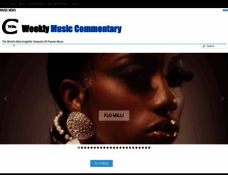 weeklymusiccommentary.com screenshot