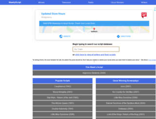weeklyscript.com screenshot