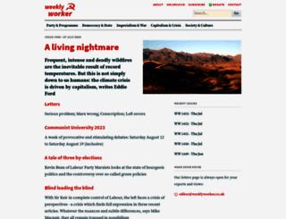 weeklyworker.co.uk screenshot