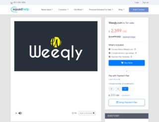 weeqly.com screenshot