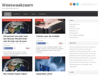 weeswaakzaam.com screenshot