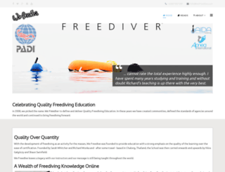 wefreedive.org screenshot