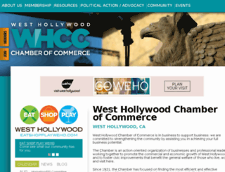 wehochamber.org screenshot