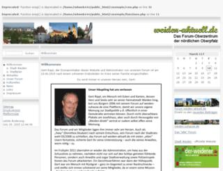 weiden-aktuell.de screenshot