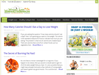 weightlossbreakthrough.com screenshot