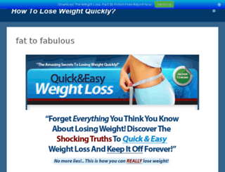 weightlossfabulous.com screenshot