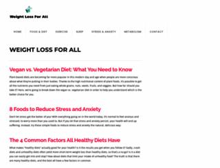weightlossforall.com screenshot