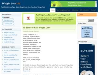 weightlosslib.com screenshot