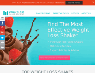weightlossshakereviews.com screenshot