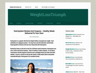 weightlosstriumph.com screenshot